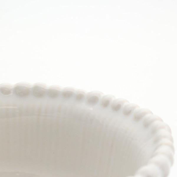 detail of a beaded rim bowl