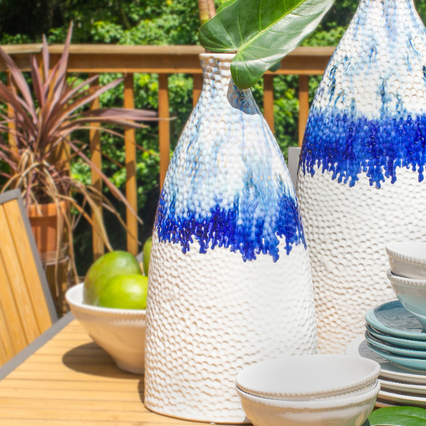 Fusion Small Ombre Drip Flat Shoulder Vase