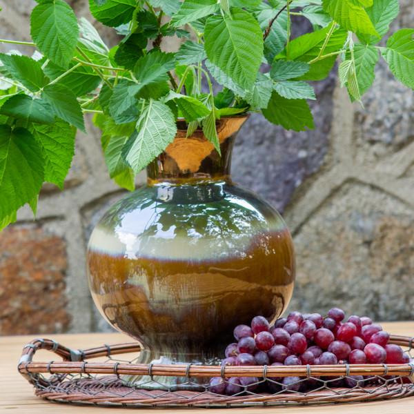 Patina Verde Flared Globe Vase