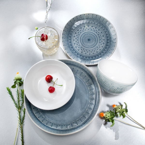 Fez 16 Piece Double Bowl Dinnerware Set