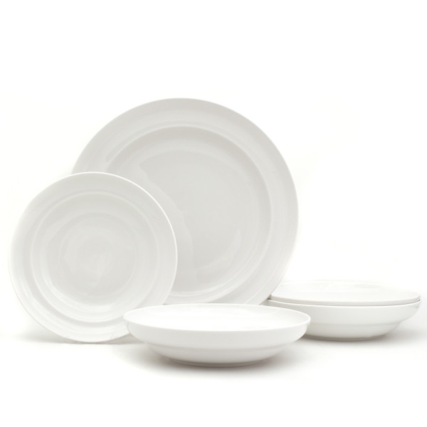 40% OFF White Essential Pasta Bowls and Serve Set