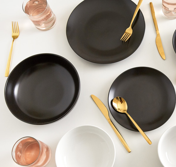Euro Essential is versatile and offers dinnerware sets and piece sets in the semi matte color palette option. Crafted of High Quality, Durable, and Professional Grade Stoneware, Euro Essential is FDA Approved and Oven Safe (Up to 400 F).
