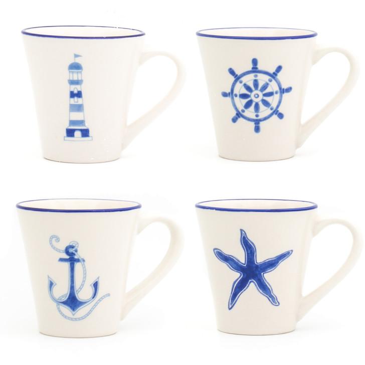 Ahoy Assorted Mugs, Set of 4