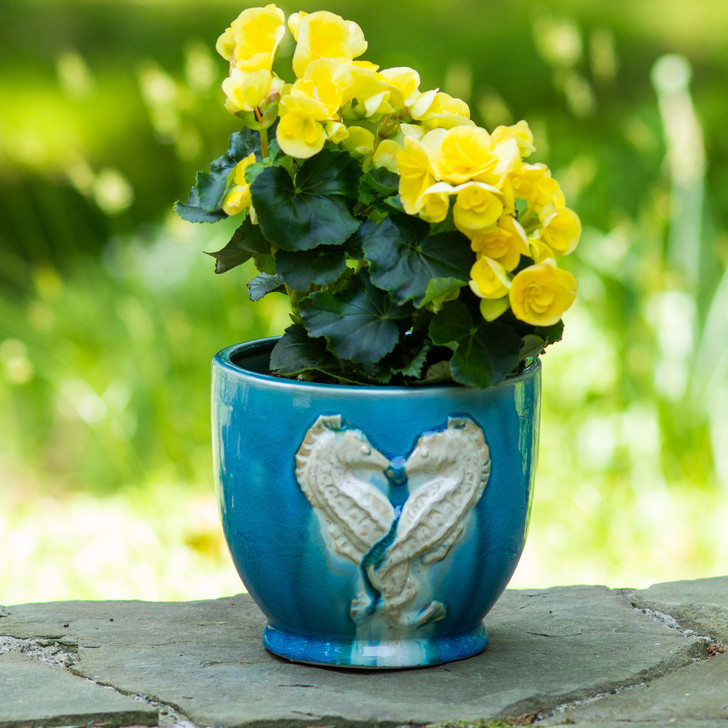 Grotto Seahorse Footed Planter