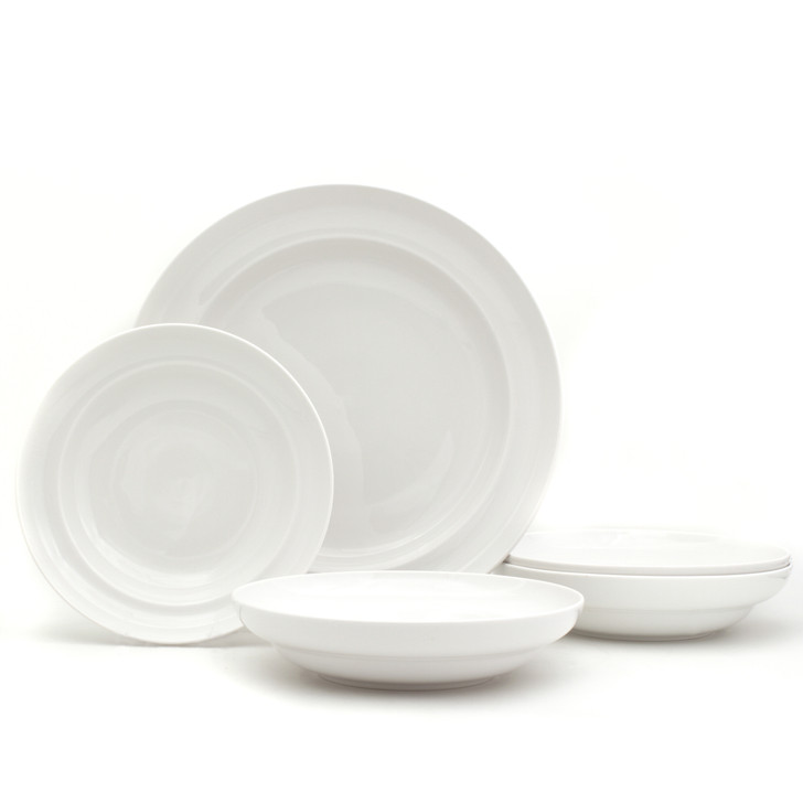 White Essential Pasta Bowls and Serve Set