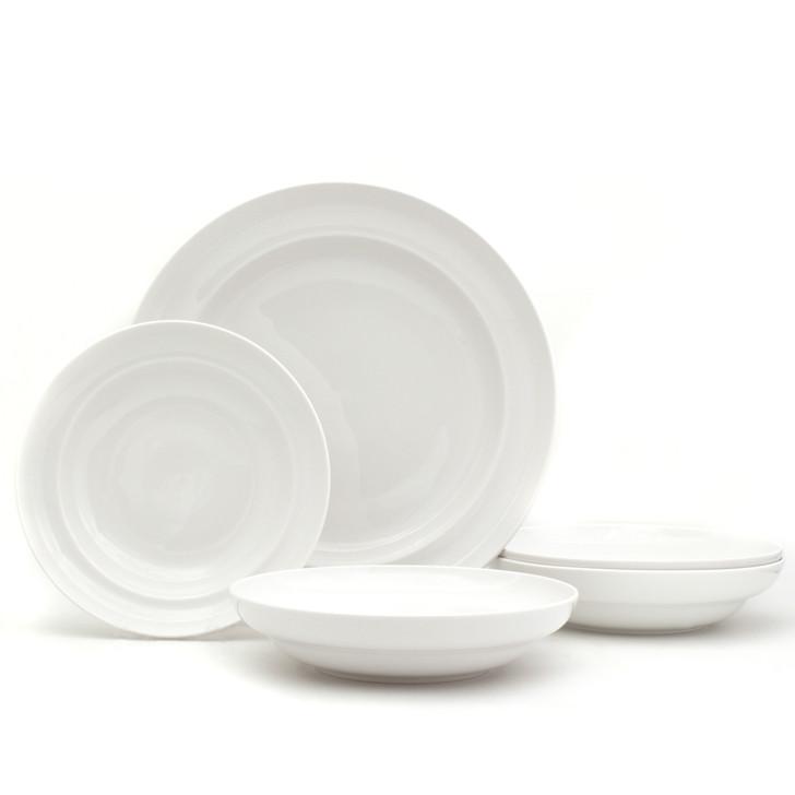 White Essential Pasta Bowls and Serve Set