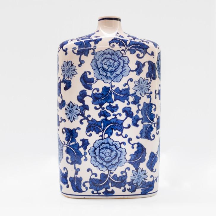 Blue Garden Square Shouldered Vase