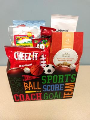Sports Fanatic Gift Basket