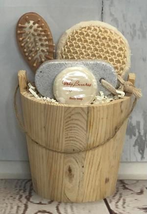 Wooden Barrel Bath Set
