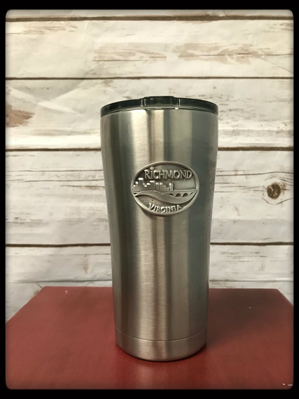 Stainless steel Tumbler with Pewter Piece