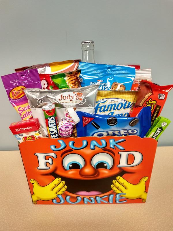 Junk Food Junkie Large Gift Basket