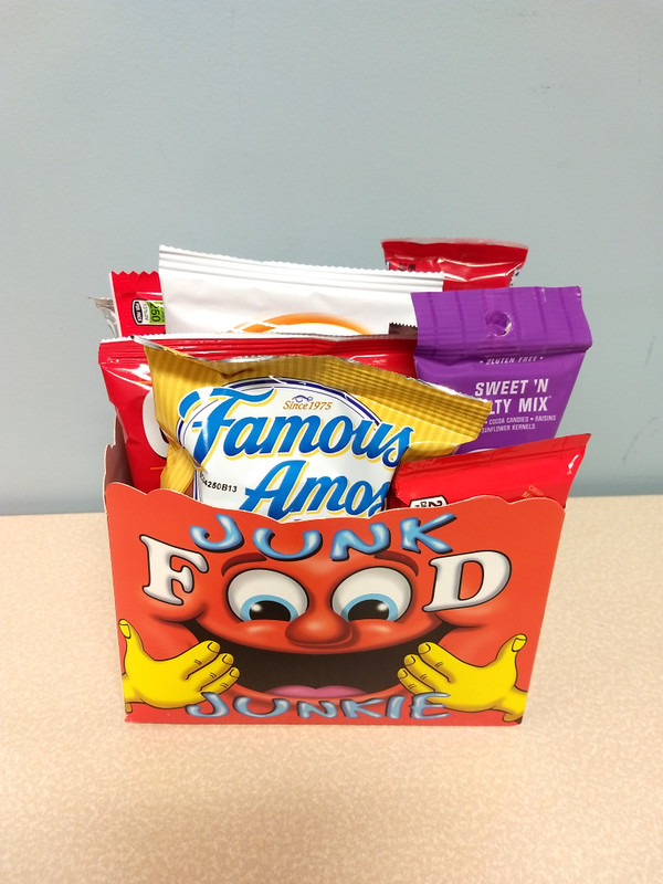Junk Food Junkie Small Gift Basket