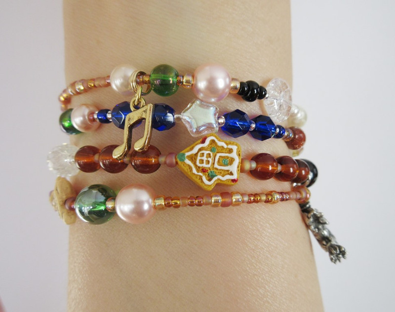View of the Hansel and Gretel Bracelet being worn.
