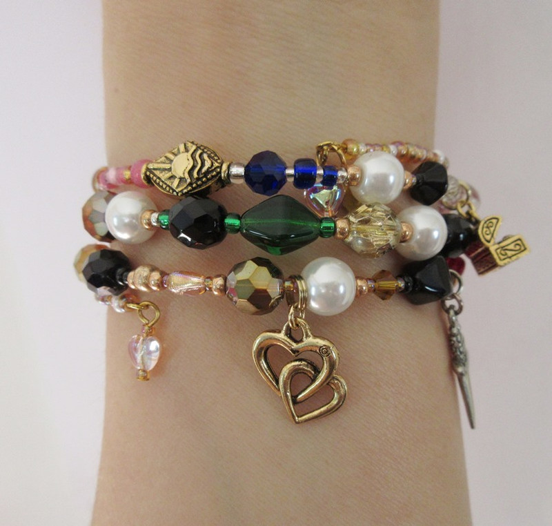Wrist view of the Verdi's Ernani Bracelet - a great gift for fans of this romantic opera.