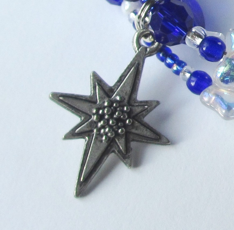 "The star charm evokes the song ""O Mother You Should Go Outside"""