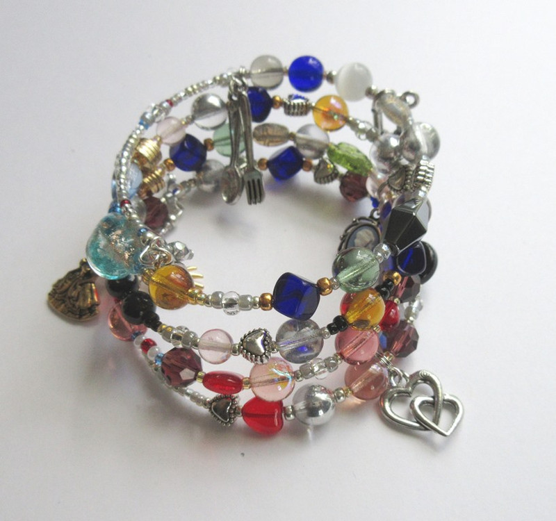 Beads and charms tell the beloved story of Les MIserables by Victor Hugo