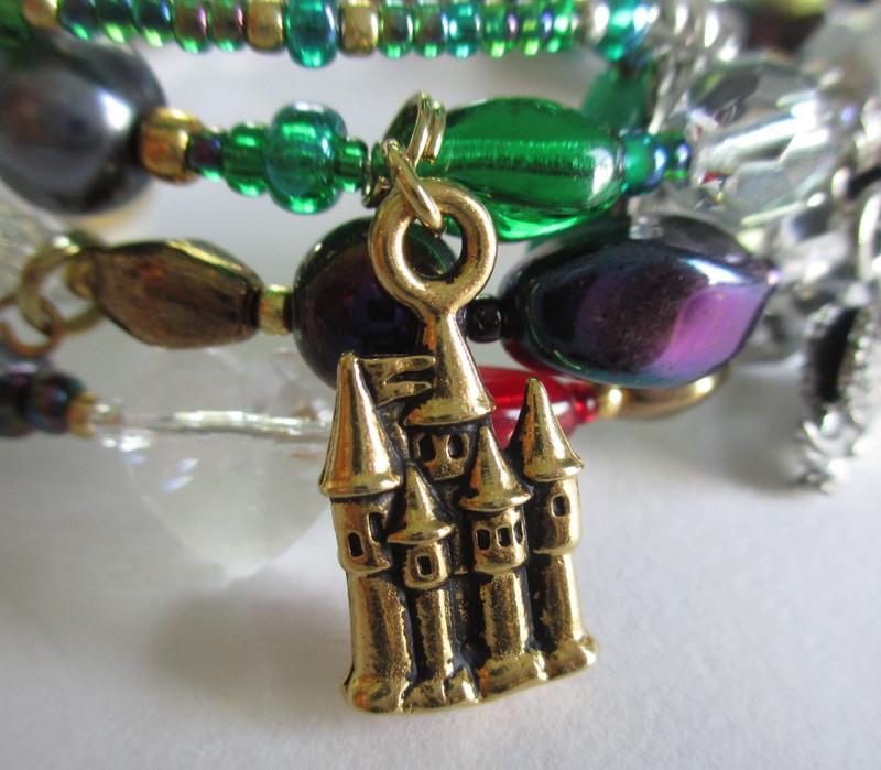 Parsifal Opera Bracelet: Castle detail.
