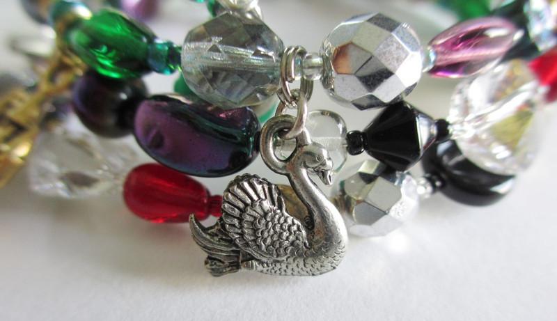 Parsifal Opera Bracelet: Swan detail.