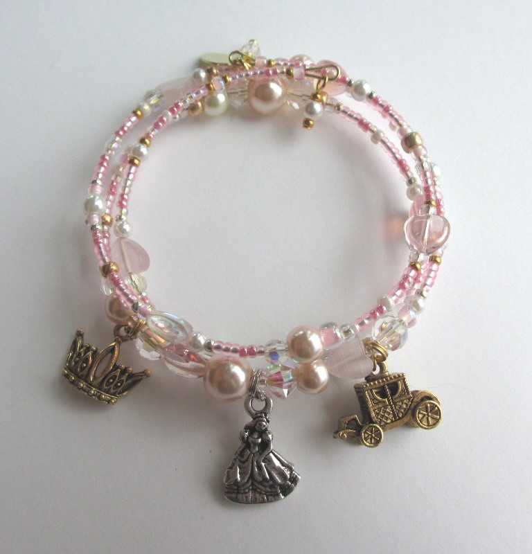 Cinderella's Bracelet represents Cinderella's  journey to her destiny as a princess.