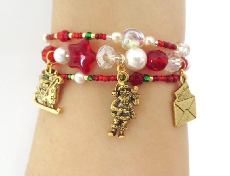 Unique handmade jewelry celebrating Santa Claus!