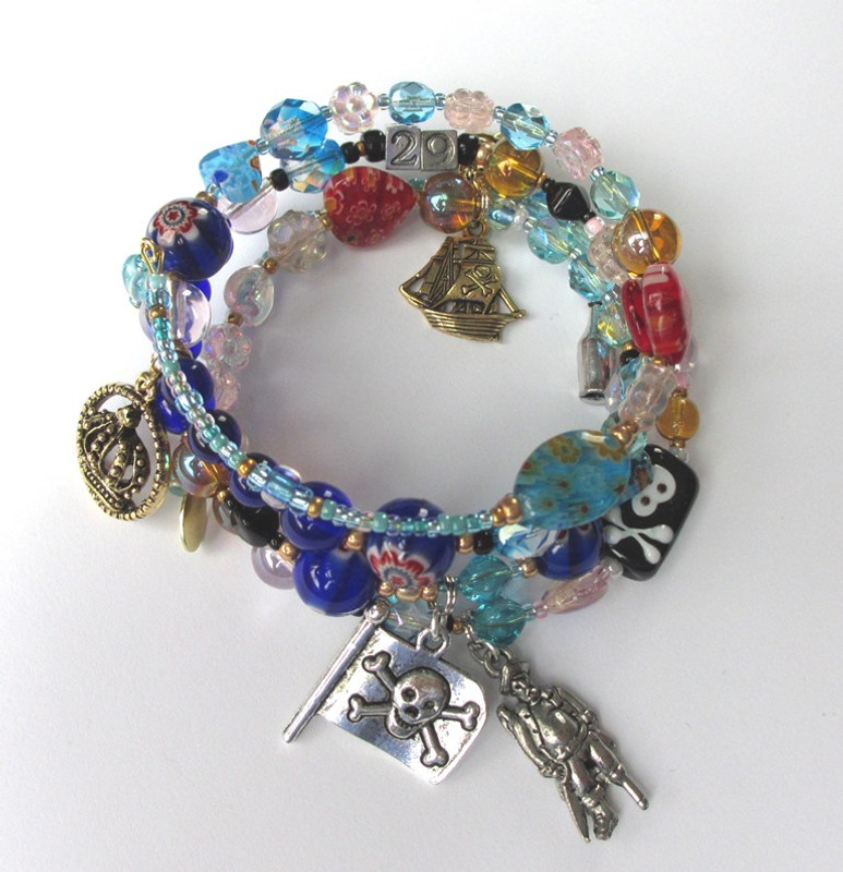 An alternate view of the Pirates of Penzance Bracelet.