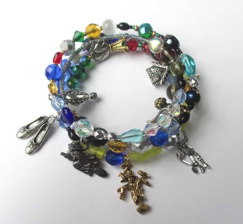 Charms include: the Silver Shoes; the Wicked Witch; the Scarecrow and the Tin Woodman.