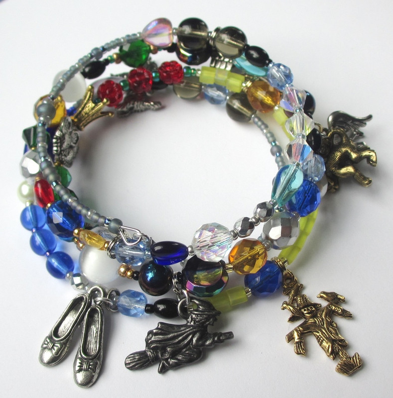 The Wonderful Wizard of Oz Bracelet tells the story with symbolic beads and charms.