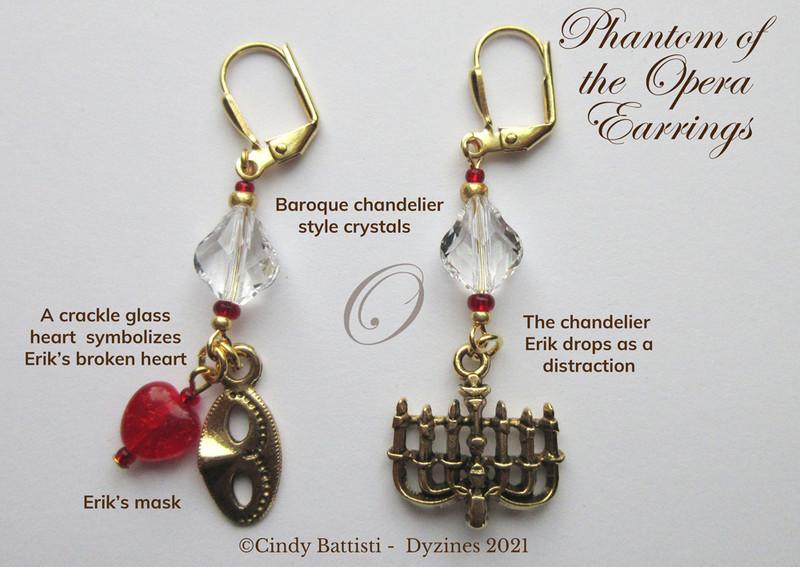 The Phantom of the Opera Earrings