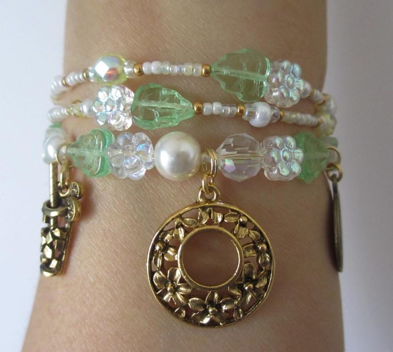 "A ""wrist view"" of the Albert's Day Bracelet inspired by the Britten opera Albert Herring."