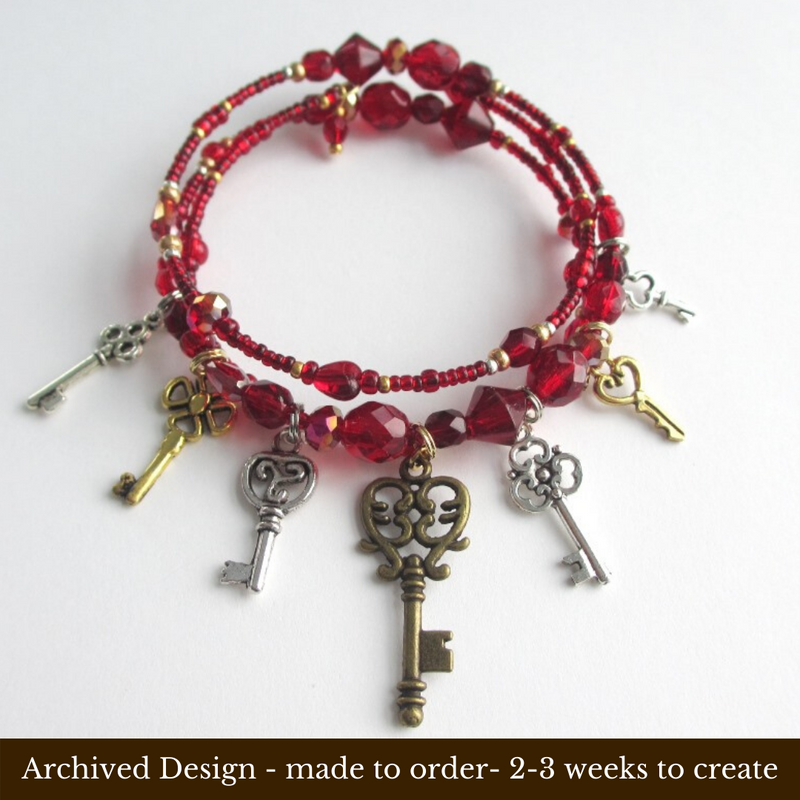 The Bluebeard's Keys Bracelet inspired by the Bartok opera Bluebeard's Castle.