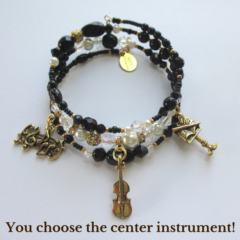 The Overture by BYoonique Bracelet - You can choose the type of instrument in the center!