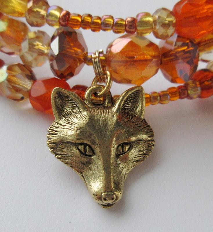 The Vixen Bracelet detail: A charm represents the Vixen herself.