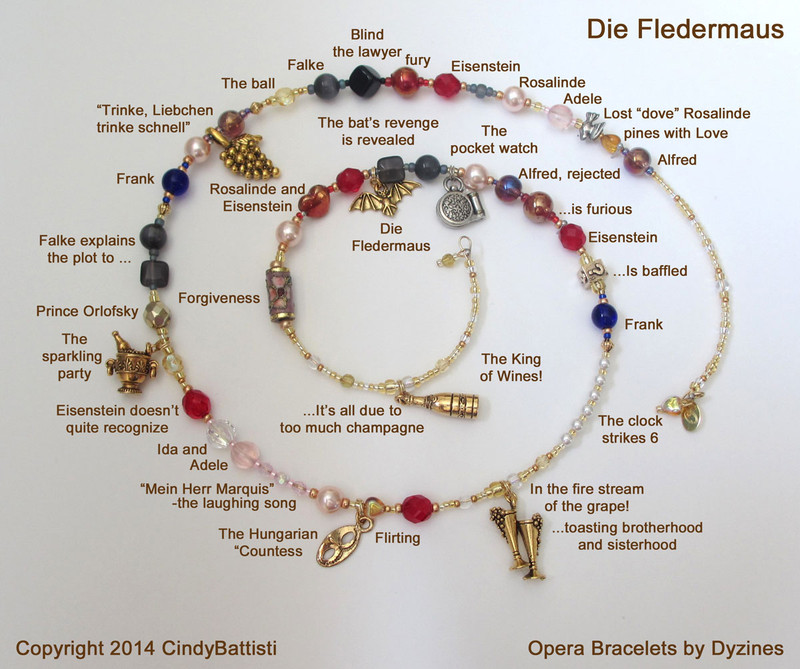 The Die Fledermaus Opera Bracelet