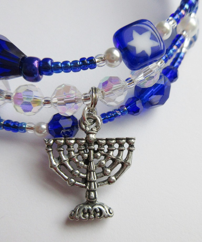 Festival of Lights Bracelet Detail: Menorah
