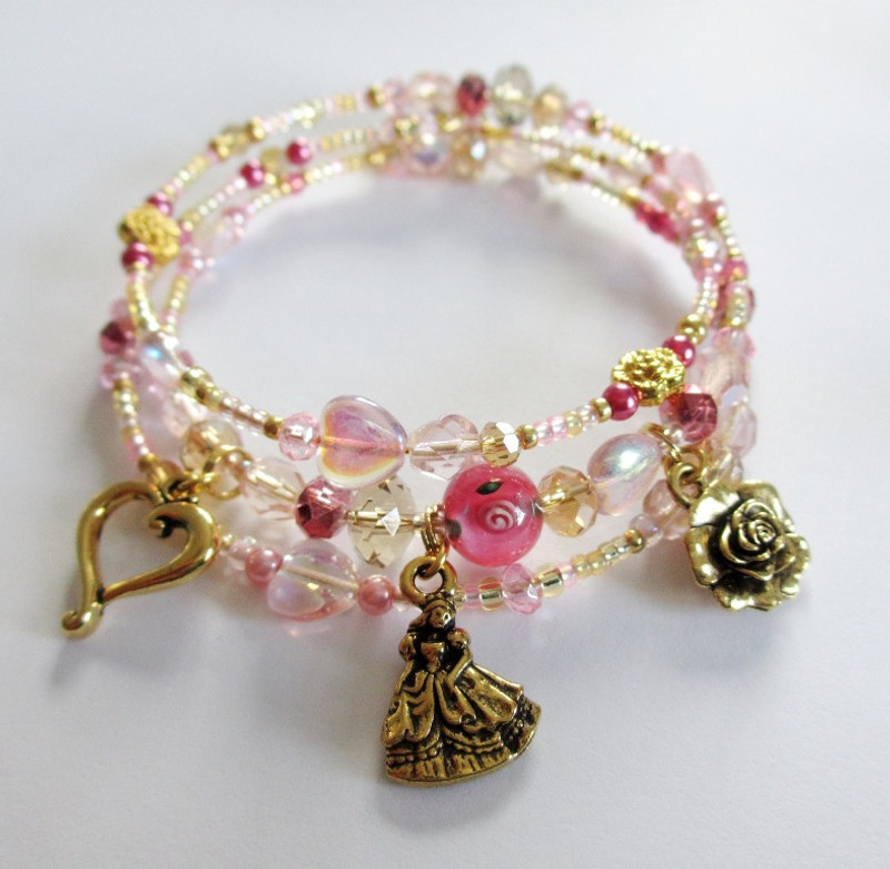 The Belle's Destiny Bracelet is inspired by the heroine of the fairy tale Beauty and the Beast.