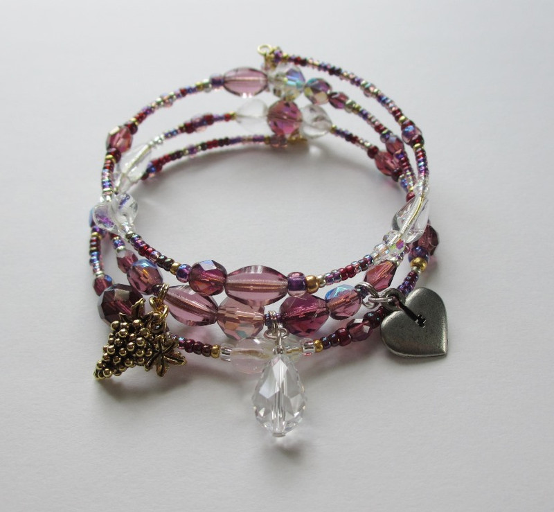The Una Furtiva Lagrima Bracelet (A secret tear) inspired by Donizetti's Elixir of Love.
