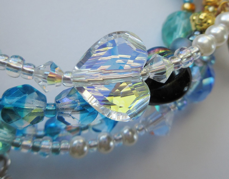 Love is the path by which the little mermaid receives a soul (large crystal heart).