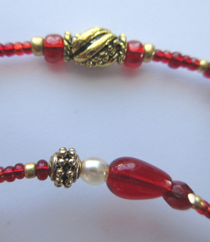Bead detail of the Starcrossed Bracelet