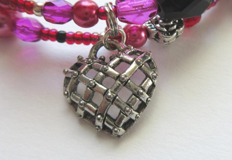 A caged heart indicates Samson's entrapment through love.
