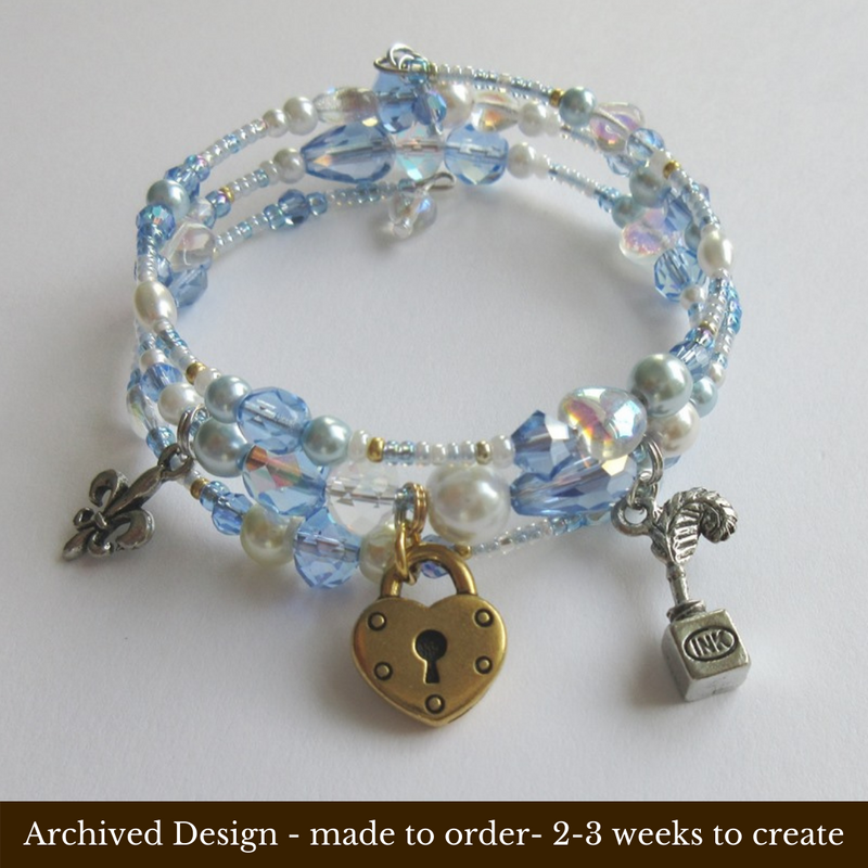 This bracelet is inspired by the dramatic finale of the opera Andrea Chenier.