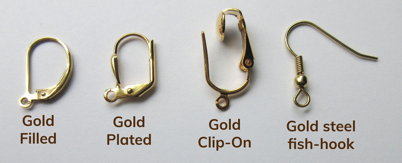 Choose a style of earring backs! Gold filled lever backs are available for a fee of $10.00