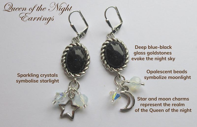 Queen of the Night Earrings
