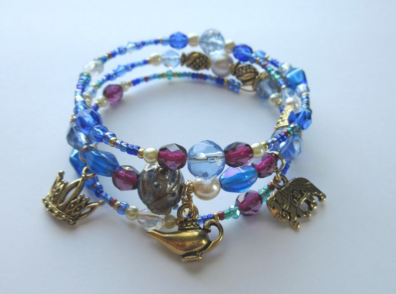 This bracelet is inspired by the ancient Asian tale of Aladdin, the boy who rubs an old lamp and ends up with far more than he expected: power, treasure and love!