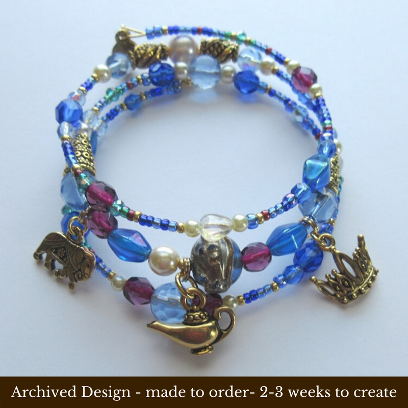 The Aladdin's Treasure Bracelet symbolizes the ancient Chinese tale of Aladdin and the Lamp