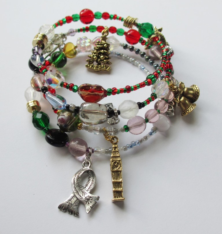 Charles Dickens', A Christmas Carol, is told with symbolic beads and charms.