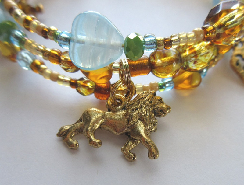 A lion charm represents the majestic animals!