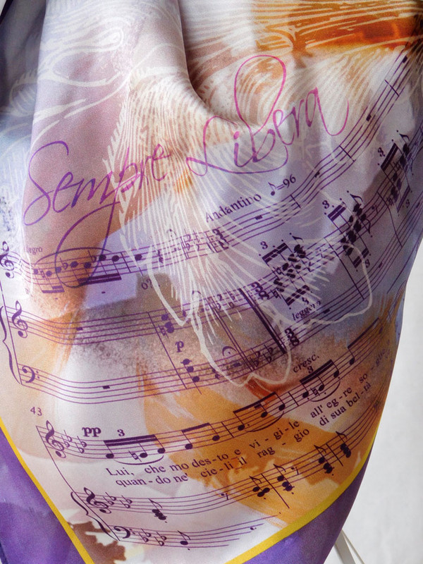 La Traviata Scarf - music detail