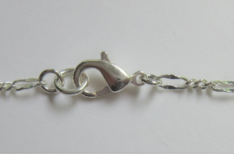 Silver finished pewter clasp