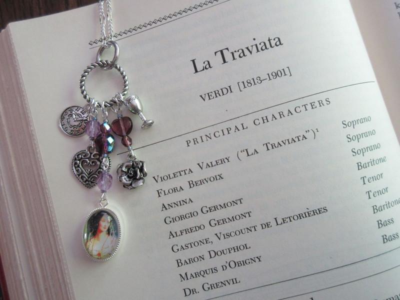 La Traviata Opera Necklace