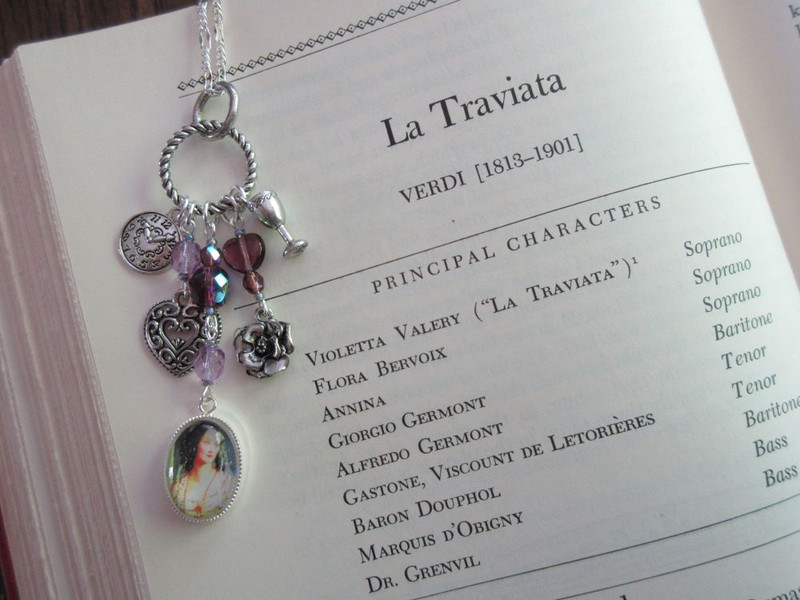 La Traviata Opera Necklace